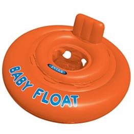 Intex Schwimmhilfe Baby Float Sitzring, Orange, Ø 76 cm - 1