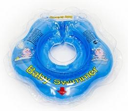 Original BabySwimmer in klein Blau, Badekragen Hals Schwimmring Schwimmhilfe - 1