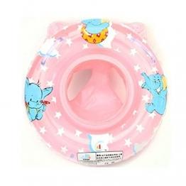 Schwimmring Schwimmreifen Schwimmhilfe Schwimmsitz Badereifen Wassering für Baby (rosa) - 1