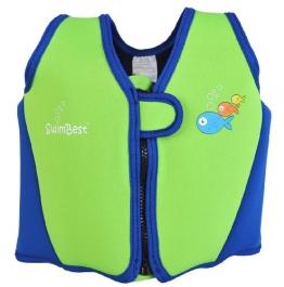 Swimbest - Baby/Kinder - Schwimmjacke / Schwimmweste aus Neopren, Grün/Marineblau, 18 Monate - 3 Jahre (Bis zu etwa 20 kg) - 1